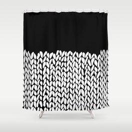 Half Knit Shower Curtain