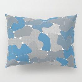 Blue Wall Etching Pillow Sham