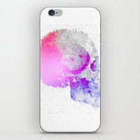 low poly iPhone & iPod Skins featuring Low poly skull by Li9z