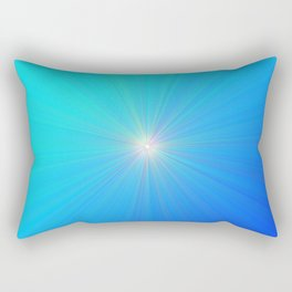 Radiating Blue Light Aura Rectangular Pillow
