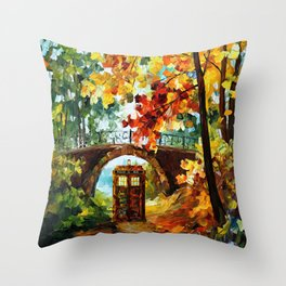 starry Abandoned phone box Under the bridge iPhone 4 4s 5 5c 6, pillow case, mugs and tshirt Throw Pillow