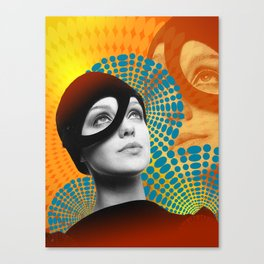 Supermodel Donna 2 - Supermodels of the Sixties Series Canvas Print