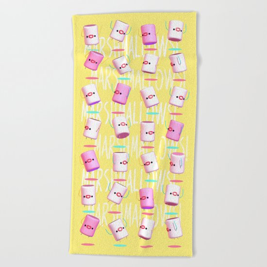 Marshmallow Club Beach Towel