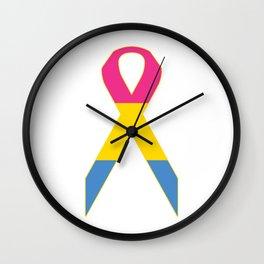 Pansexual Ribbon Wall Clock