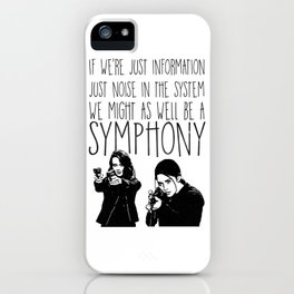 Root & Shaw - Symphony - Person of interest iPhone Case