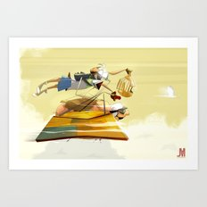Pigs still fly Art Print