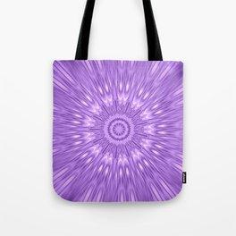 Lavender Purple Mandala Explosion Tote Bag