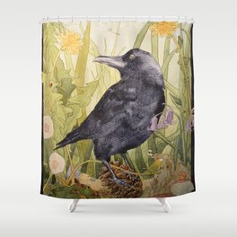 Canuck the Crow Shower Curtain