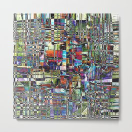 Colorful Chaotic Composite Metal Print