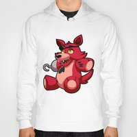 fnaf Hoodies featuring Foxy the Plush by GlacierK