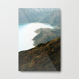 Fire Lake Metal Print