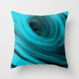 Cyan Spiral Throw Pillow