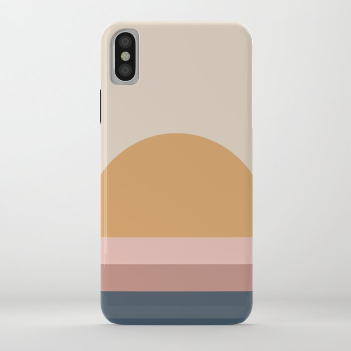 Minimal Retro Sunset - Neutral iPhone Case