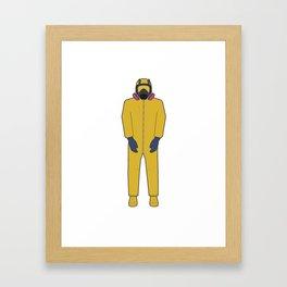 Walter White's Wardrobe - Hazmat Framed Art Print