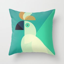 Mid Century Cockatoo Throw Pillow