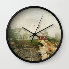 A Morning in Maine Wall Clock