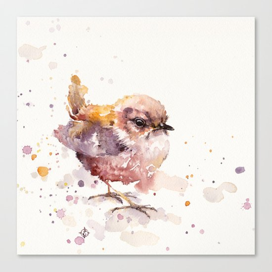Fluffy Le Wren Canvas Print