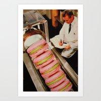 macaroon Art Prints featuring Macaroon Mania by John Turck