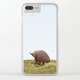 Short-beaked echidna (Tachyglossus aculeatus) Clear iPhone Case
