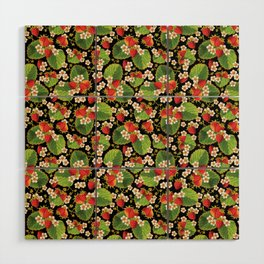 Strawberries Botanical Wood Wall Art