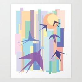 Birds and the Sun Art Print