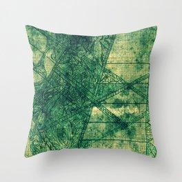 Streamline Viridian Throw Pillow