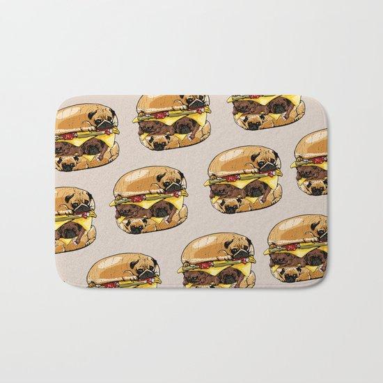 Pugs Burger Bath Mat