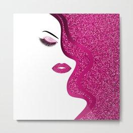 glittery woman Metal Print