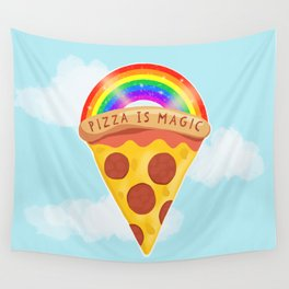 Pizza Is Magic Wall Tapestry