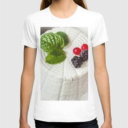 Fantasy of ricotta cheese, berries, dried figs and fresh mint T-shirt