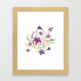 Floral tenderness Framed Art Print