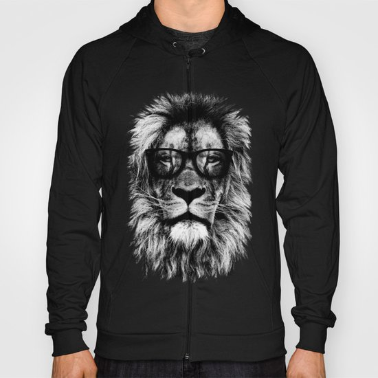 Hipster Lion Black by mydream