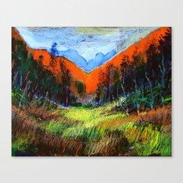 Mountain Meadow Landscape Canvas Print