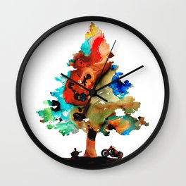 A Certain Kind Of Freedom - Guitar Motorcycle Art Print Wall Clock