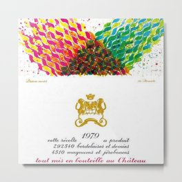 Vintage 1979 Chateau Rothschild Wine Bottle Label Print Metal Print