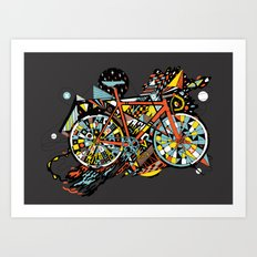 FIX TRIP ~ BLACK Art Print