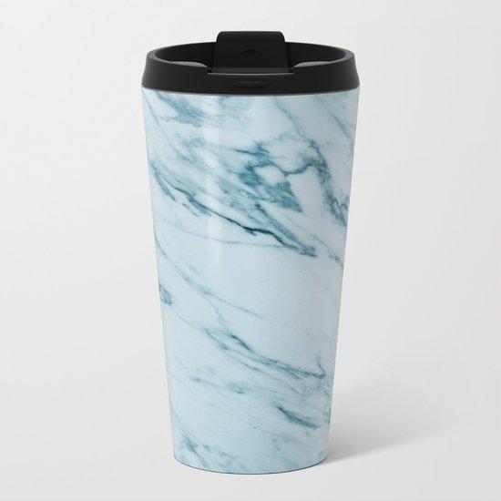 Alberto Verde - green marble Metal Travel Mug