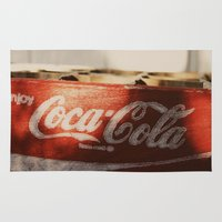 coca cola Area & Throw Rugs featuring Enjoy Coca-Cola by Joseph Lee Photography