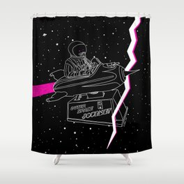 Space Journey Shower Curtain