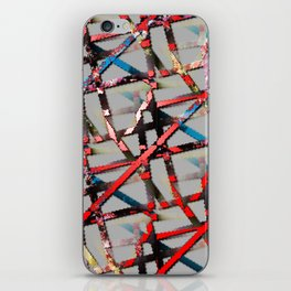 Grungy Corroded Lines  iPhone Skin