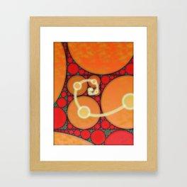 Fibonacci Spiral Fractal Framed Art Print