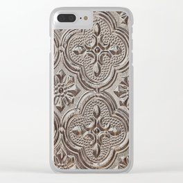Silver Emboss Clear iPhone Case