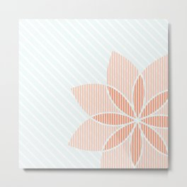 Floral Stripes Metal Print