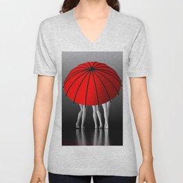 umbrella time -08- Unisex V-Neck