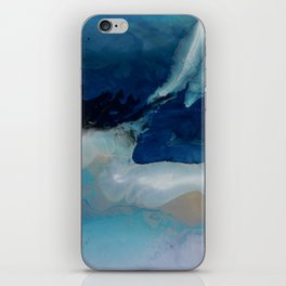 DEEP - Ocean art Resin painting, abstract seascape, coastal painting iPhone Skin