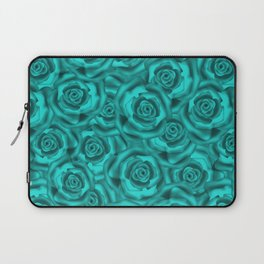 Bright turquoise roses Laptop Sleeve