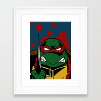 ninja turtle Framed Art Prints featuring Ninja Turtle by Mirko Martorello