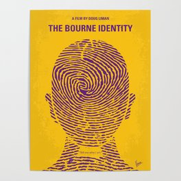 No439 My The Bourne identity minimal movie poster Poster