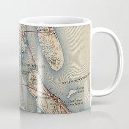Vintage Map of St. Augustine Florida (1937) Coffee Mug