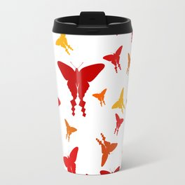 Red butterflies Travel Mug